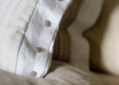 Beautiful close up of linens