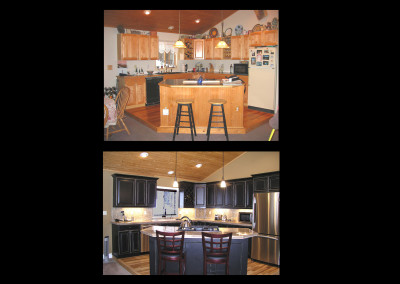 CHAD KITCHEN BEFORE AND AFTER